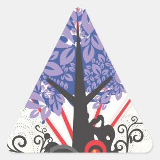 Artsy Tree Triangle Sticker