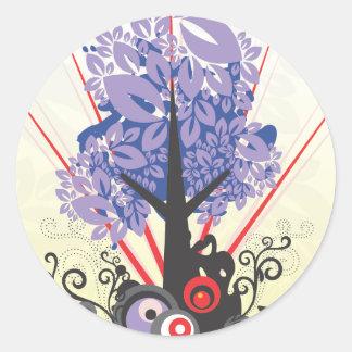 Artsy Tree Classic Round Sticker