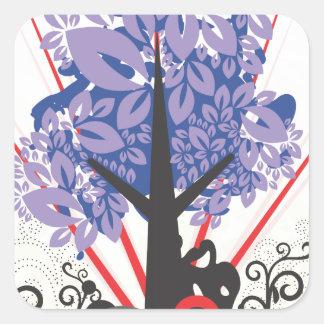 Artsy Tree Square Sticker