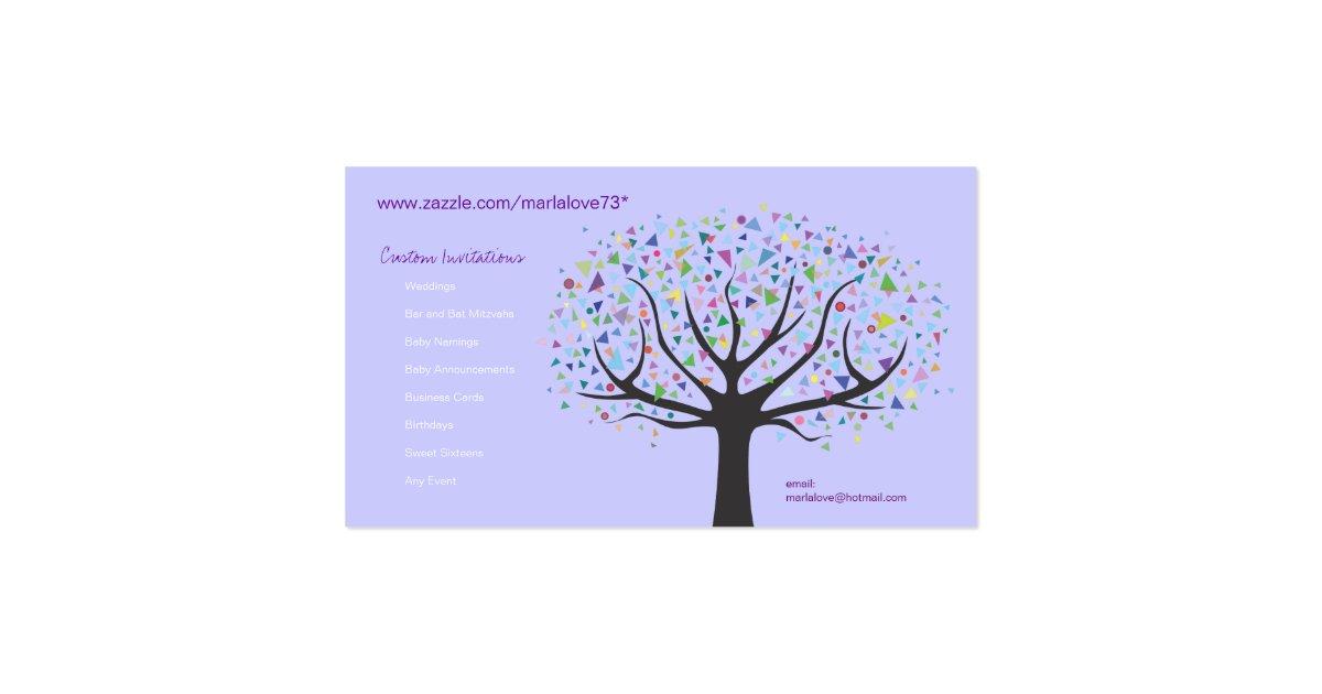 Artsy unique tree business card art designer zazzle for Artsy business cards