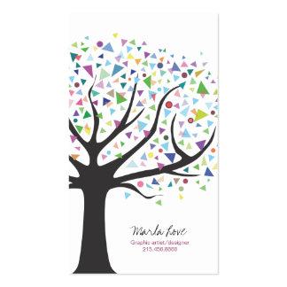 Artsy Unique Tree Business Card Art designer