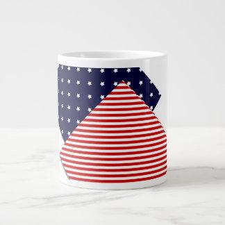 Artsy US Flag Large Coffee Mug
