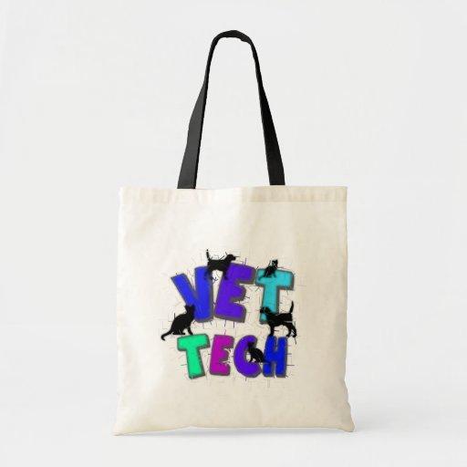 Artsy Vet Tech Gifts, Unique artist drawn design Budget Tote Bag