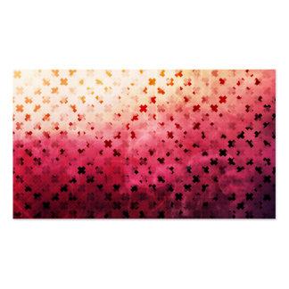 Artsy Vintage Pink Grunge Floral Cross Pattern Art Business Card Template