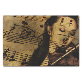 "Artsy Violin Music 10"" X 15"" Tissue Paper"