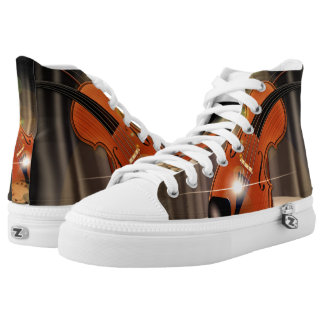 Artsy Violin Music High-Top Sneakers