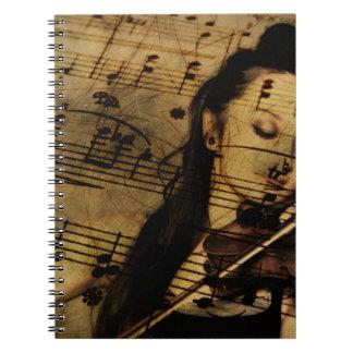 Artsy Violin Music Notebook