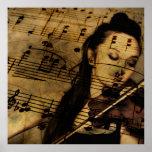 Artsy Violin Music Poster