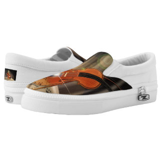 Artsy Violin Music Slip-On Sneakers