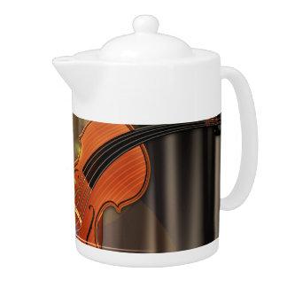Artsy Violin Music Teapot