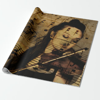 Artsy Violin Music Wrapping Paper