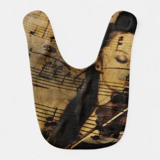 Artsy Violin Music Baby Bib