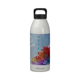 Artsy Word Art Flowers Water Bottle