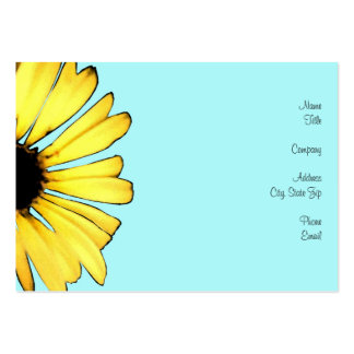 Artsy Yellow Gerbera Daisy Large Business Card