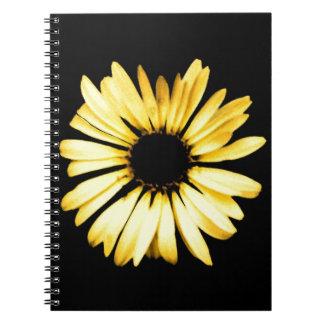 Artsy Yellow Gerbera Daisy Spiral Notebooks