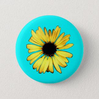 Artsy Yellow Gerbera Daisy Pinback Button