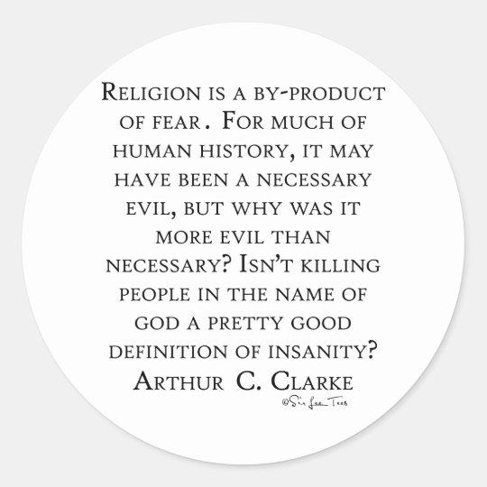 Arturo C Clarke en la religión Pegatina Redonda