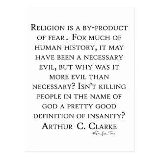 Arturo C Clarke en la religión Postal
