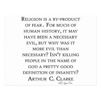 Arturo C Clarke en la religión Tarjeta Postal