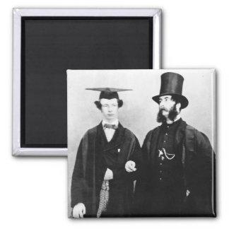 Arturo Munby y su padre, c.1851 Imán Cuadrado