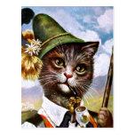 Arturo Thiele - gato bávaro de las montañas Postales