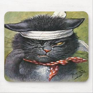 Arturo Thiele - gato con dolores de muelas Tapetes De Ratones