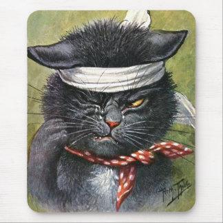 Arturo Thiele - gato con dolores de muelas Alfombrilla De Ratón