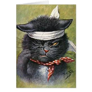 Arturo Thiele - gato con dolores de muelas Tarjeton