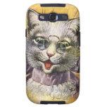 Arturo Thiele - gato femenino con los vidrios Galaxy S3 Carcasa