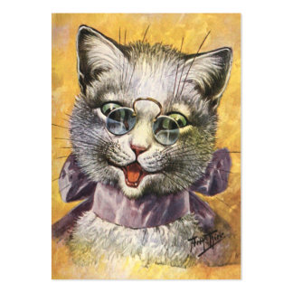 Arturo Thiele - gato femenino con los vidrios Tarjetas De Visita Grandes