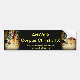 ArtWalk Corpus Christi, TX Pegatina Para Auto