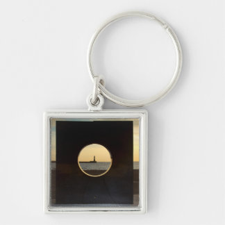 Artwork at Roker Keychain/Keyring Silver-Colored Square Keychain