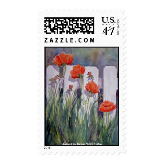 Artwork by Helen Percy Lystra Postage