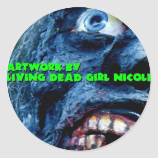 Artwork By Living Dead Girl Nicole Zombie Sticker