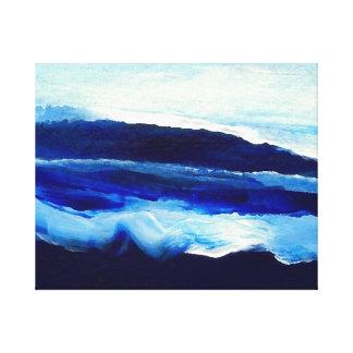 Artwork Deep Blue Sea Ocean Waves Painting Beach Canvas Print