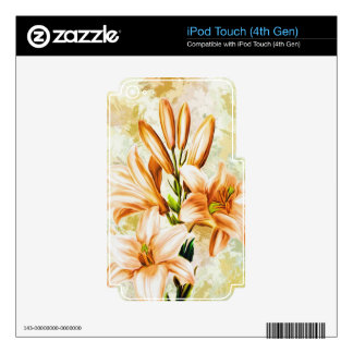 Artwork Flowers Images Skin For iPod Touch 4G