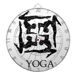 artwork for yoga dartboard with darts