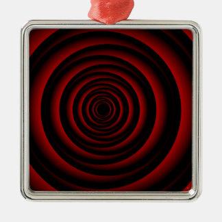 Artwork forming illusion of rose metal ornament