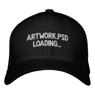 ARTWORK LOADING PHOTOSHOP EMBROIDERED BASEBALL HAT