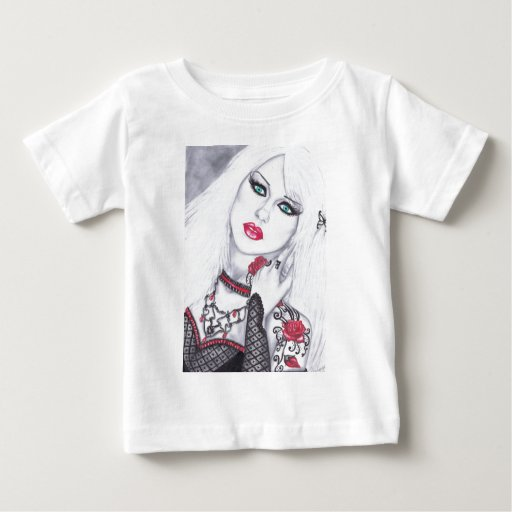 Artwork of Beautiful ladies and flowers Baby T-Shirt