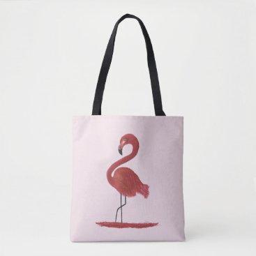 Artwork Original Pink Flamingo with Flair - Ginger Tote Bag