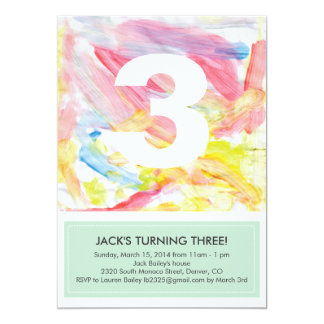 "Artwork Photo Birthday Party Invite 5"" X 7"" Invitation Card"