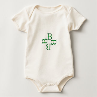 Artwork with B in green Baby Bodysuit