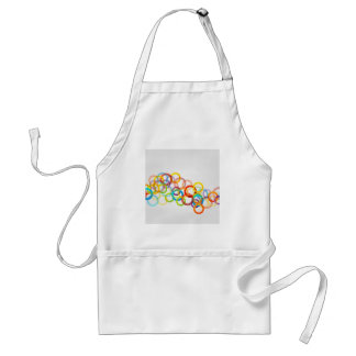 Artwork with colorful rings adult apron