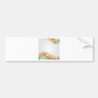 Artwork with colorful rings bumper sticker