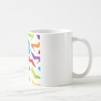 Artwork with ladies shoes classic white coffee mug