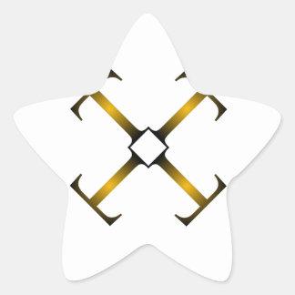 artwork with T Star Sticker
