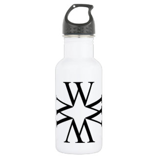 artwork with W Water Bottle