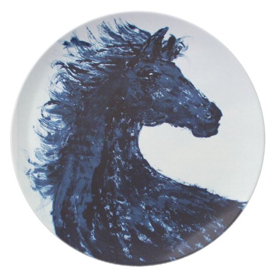 Arty Black Horse Plate