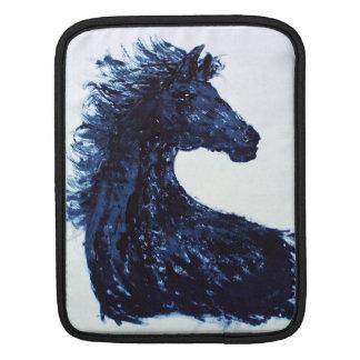 Arty Black Horse Rickshaw iPad Sleeve